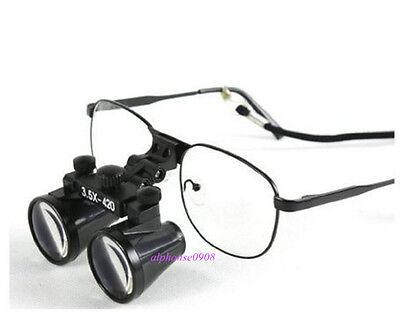 Binocular Loupes Dental Lab Surgical Medical Magnifier 3.5 X 420mm