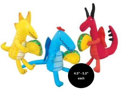 "Merry Makers DRAGONS LOVE TACOS 3 Mini Dolls Collection 4.5""-5.5"" Each SET OF 3, used for sale  Benton Harbor"