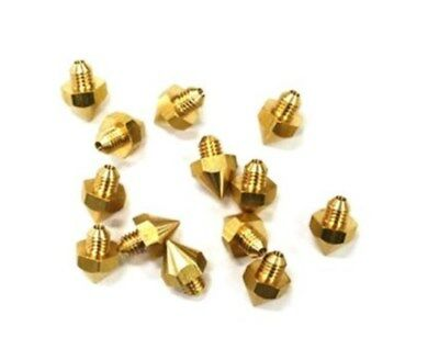 10pcs Reprap 3d Printer 0.2mm Brass Nozzle J-head Hot End Makerbot Prusa Mendel