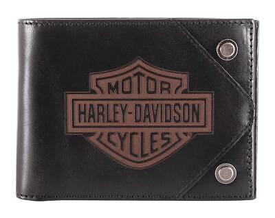 Harley-Davidson Men/'s Legendary Leather Tri-Fold Wallet w// RFID HDMWA11654