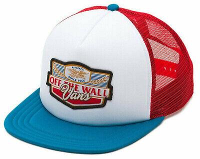 83387011 Vans Off The Wall Men's Long Neck Trucker Hat Cap - Seaport/White/Racing