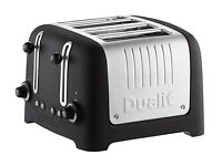 Dualit Lite 4-Slice Toaster with Warming Rack, Basalt Black