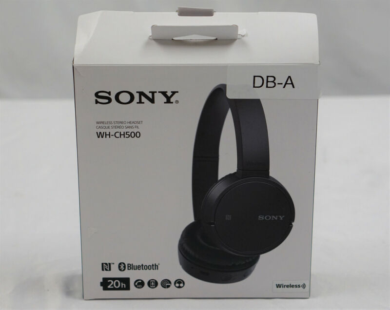 Sony WH-CH500 Wireless On-Ear Headphones (Black)