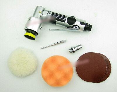 "1pcs Pneumatic air sander 3"" wax polishing Angle automotive sponge wool tray"