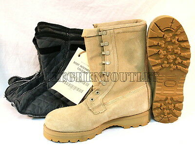 Army Military ICW Cold Weather DESERT TAN GORETEX Boots SIZE 15W w/ Booties NIB