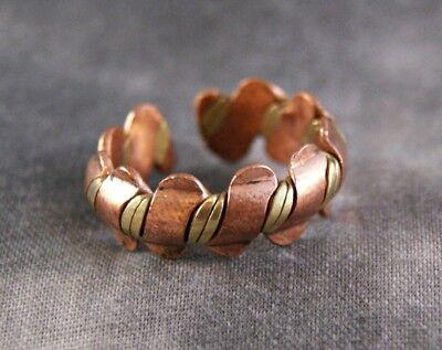 Ring geflochten ~ Kupfer mit Messing ~ Tibet Nepal (1037)