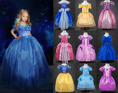 Princess Sofia Cinderella Costume Party Long Gown Dress Up for Little Girl Kids - Costume Dress For Kids