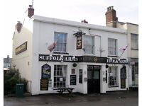 Full and part time bar staff required at the Suffolk Arms in Cheltenham!