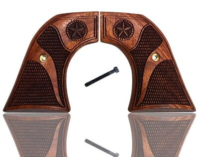 Ruger Old Vaquero Grips, Single Six, New Model Blackhawk Solid Rosewood Star