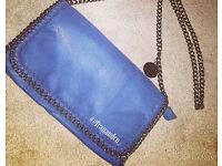 New with tags - blue Stella McCartney inspired clutch bag
