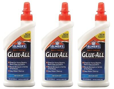 oz Nonflammable Dries Clear High Strength Adhesive New E3820 (Elmers Glue All)