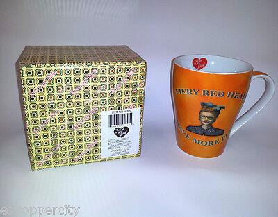I Love Lucy 12oz Coffee Mug w/ Gift Box  Lucille Ball Red Heads