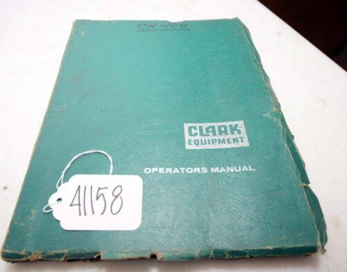 Clark c100 ch100 Operators Manual (Inv.41158)