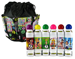 Lucky Lady Bingo Daubers 6-Pack with Bingo Bag