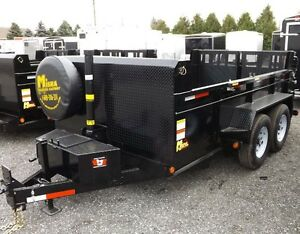 7 Ton Landscape Dump Trailer - Loaded