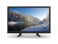 "Seiki 24"" Black LED HD TV with Built-in DVD Player & Freeview + Indoor TV Aerial"