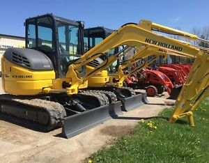 2016 New Holland E55BX Mini Excavator with Cab