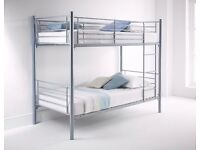 🔥💥**50 % OFF LIMITED TIME OFFER!**🔥💥- Metal Bunk Bed with 2 x Mattresses - Bunkbed - SAME DAY