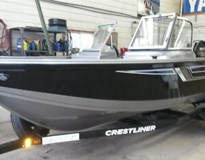 2016 Crestliner 1700 Vision with 90 HP Mercury London Ontario image 1