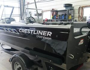 2016 Crestliner 1700 Vision with 90 HP Mercury London Ontario image 4