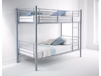 FEB SALE NOW ON == Metal Bunk Bed with ECO Mattress - SAME/NEXT DAY DELIVERY!