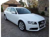2011 Audi A4 Avant White 2.0TDI Technik S/S ESTATE 170BHP FSH 12 MONTHS MOT full leather A3 A5 A6