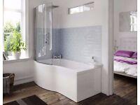 Full Bathroom Showerbath Complete Suite. Toilet. Taps & Toilet.
