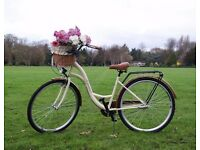 Vintage City Bike with Wicker Basket - NEW !