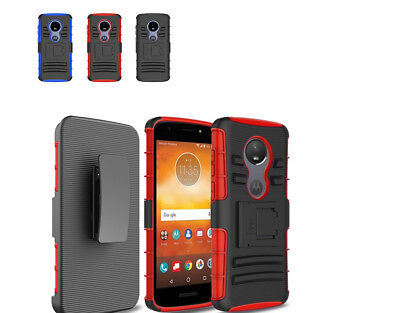 Talking Stand - For Straight Talk moto e5 (XT1920DL) stand Holster Belt Clip Cover Combo Case