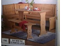 CORNER/NOOK DINING SET