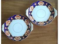 Vintage Royal Albert Heirloom 2 large cake serving plates