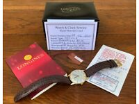 IMMACULATE - FULL-SET - 1975 Vintage LONGINES 9k Gold Gents Watch - Calibre 6942