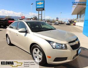 2014 Chevrolet Cruze 2LT, Heated Leather, Reverse Cam, Sunroof