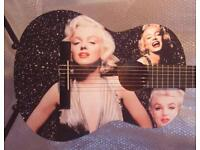 MARILYN MONROE COOL AMAZING GUITAR FULL SIZE CLASSICAL GUITAR