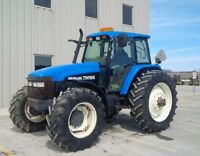 2002 New Holland TM165 4WD Tractor with Cab