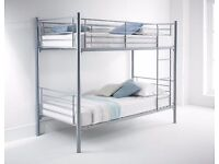 **100% GUARANTEED PRICE!**New Venice Single Bunk Bed Metal -With Eco Orthopaedic Dual Sided-Mattress