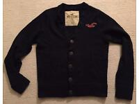 Brand new large men's Hollister Cardigan. Dark blue. Mint condition