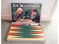 BACKGAMMON Vintage board game by Michael Stanfield Complete VERY GOOD CONDITION