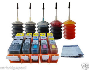 5-Refillable-ink-for-Canon-PGI-225-226-PIXMA-MG5120-MG5320-MG6220-MG8220-5x30ml