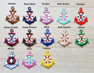 Sailor Diy Costume (Mini Anchor Marine Sailor Naval Patches for Bags Jacket Cap T-shirt Costume)