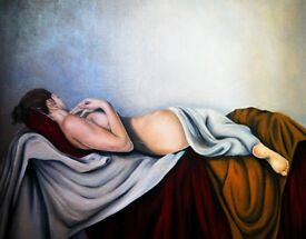 original oil painting (Grace) by Emma Pewsey