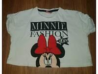 Minnie fashion star crop top