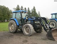 New Holland TM120 4WD Tractor with Cab & Loader