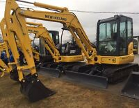2015 New Holland E55BX Mini Excavator with Cab