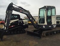 2015 Terex TC37 Mini Excavator with Cab