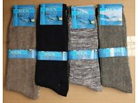 120 Pairs Mens Assorted Colours Cotton Socks Wholesale Clearance Stock Job Lot Car Boot Market Trade