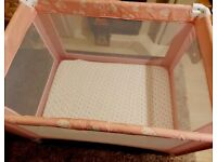 Red Kite Baby Sleeptight Pretty Kitty Pink Travel Cot