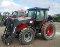 2009 Massey Ferguson 3645 4WD Tractor with Cab & Loader