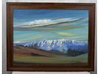 Oil Painting LOCHNAGAR by David Wright Glen Muick Munro Scotland Scottish Mountain Balmoral Deeside