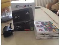 New Nintendo 3DS XL with AC Adaptor & Games